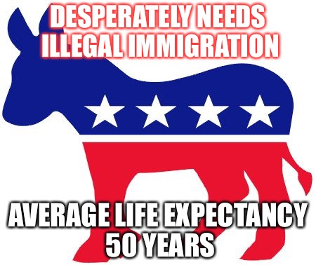 The Party Of Disease | DESPERATELY NEEDS ILLEGAL IMMIGRATION AVERAGE LIFE EXPECTANCY 50 YEARS | image tagged in death,stds,aids,prostitution,gay | made w/ Imgflip meme maker
