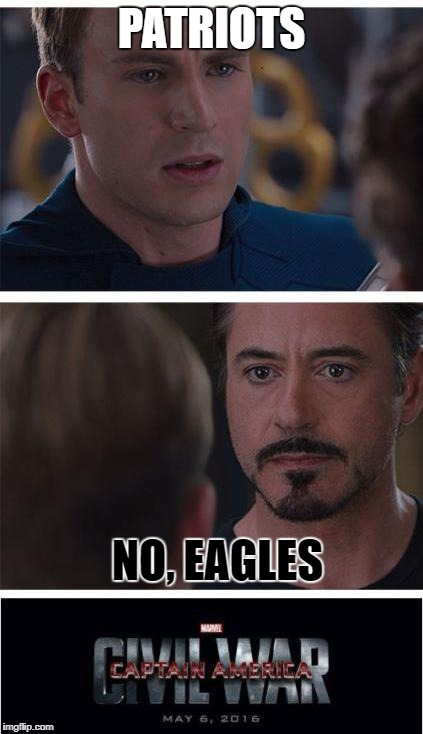 super bowl 2k18 be like |  PATRIOTS; NO, EAGLES | image tagged in memes,marvel civil war 1,superbowl,riots | made w/ Imgflip meme maker