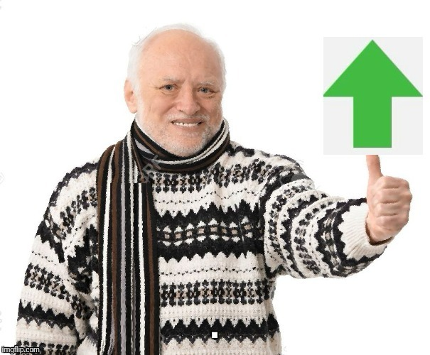 Upvote Harold | . | image tagged in upvote harold | made w/ Imgflip meme maker