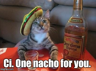 Ci. One nacho for you. | made w/ Imgflip meme maker