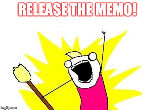X All The Y Meme | RELEASE THE MEMO! | image tagged in memes,x all the y | made w/ Imgflip meme maker