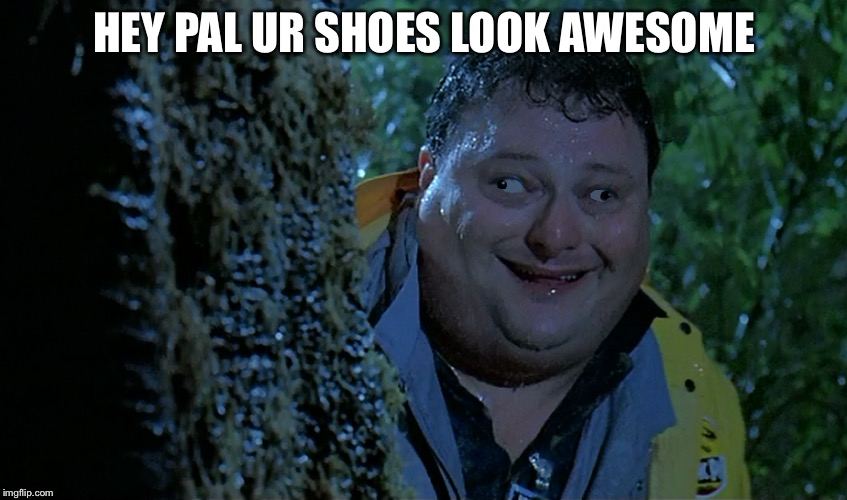 I like your shoes | HEY PAL UR SHOES LOOK AWESOME | image tagged in the most interesting man in the world | made w/ Imgflip meme maker