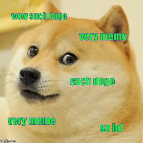 Doge Meme | wow such doge very meme such doge very meme so lol | image tagged in memes,doge | made w/ Imgflip meme maker