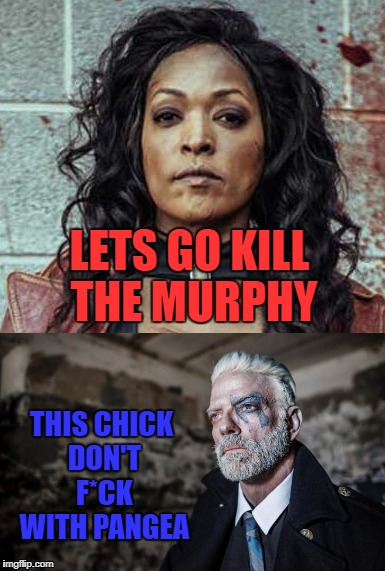 Pangea Murphy | LETS GO KILL THE MURPHY THIS CHICK DON'T F*CK WITH PANGEA | image tagged in pangea,murphy,blue,zombies,zombie,lil dicky | made w/ Imgflip meme maker