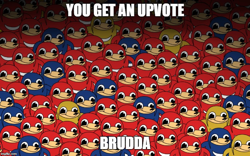 YOU GET AN UPVOTE BRUDDA | made w/ Imgflip meme maker