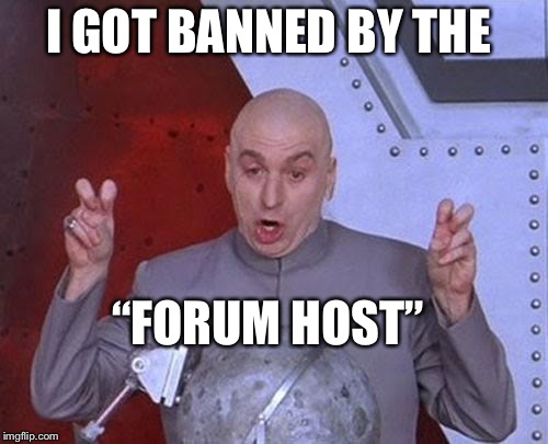"When the liberal host of a bulletin board loses a debate | I GOT BANNED BY THE ""FORUM HOST"" 