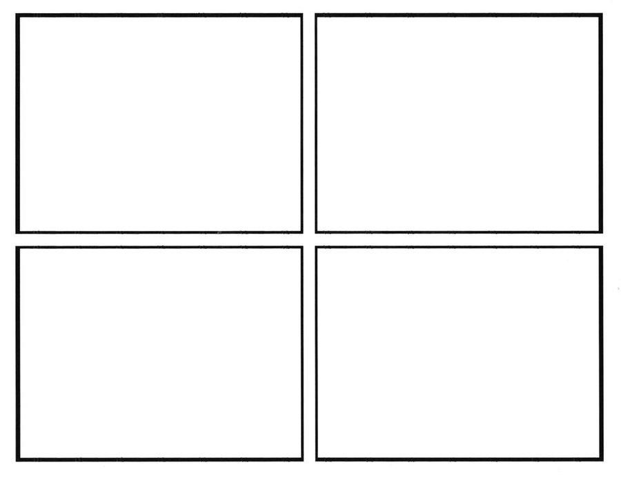 4 square comic strip template  comic template - Wpa.wpart.co