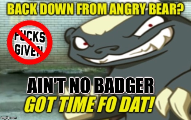AIN'T NO BADGER | made w/ Imgflip meme maker