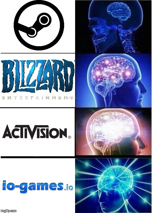 Game Logic | image tagged in memes,expanding brain | made w/ Imgflip meme maker
