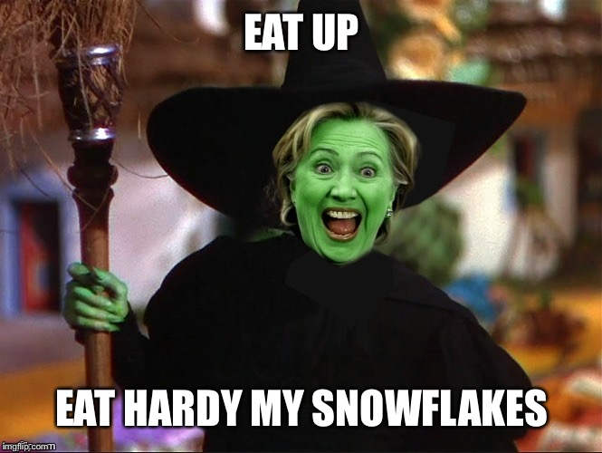Hillary tries to impress the young folks by cussing and not wearing makeup | EAT UP EAT HARDY MY SNOWFLAKES | image tagged in which way is c unt up,hill are e done yet,memes to a plotus,sotus,meme memes meming | made w/ Imgflip meme maker