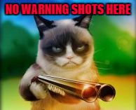 NO WARNING SHOTS HERE | made w/ Imgflip meme maker