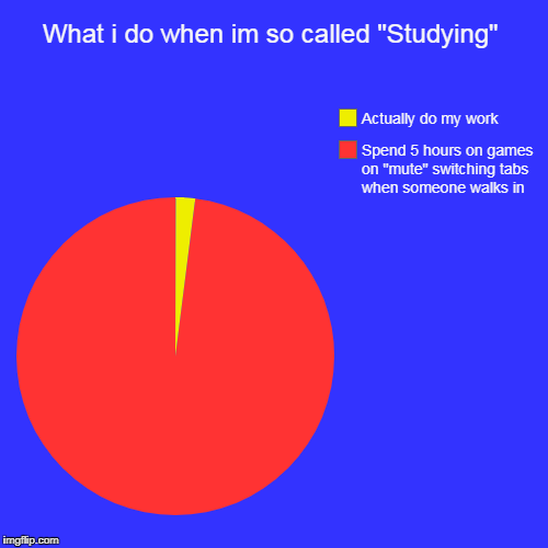 "What i do when im so called ""Studying"" 