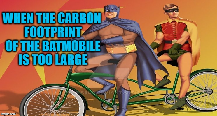 """To the Bat-Tandem-Bike"" just doesn't sound as good! 