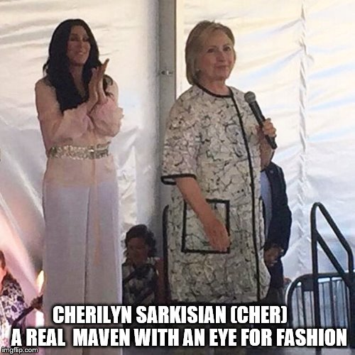 CHERILYN SARKISIAN (CHER)  A REAL  MAVEN WITH AN EYE FOR FASHION | image tagged in cher | made w/ Imgflip meme maker