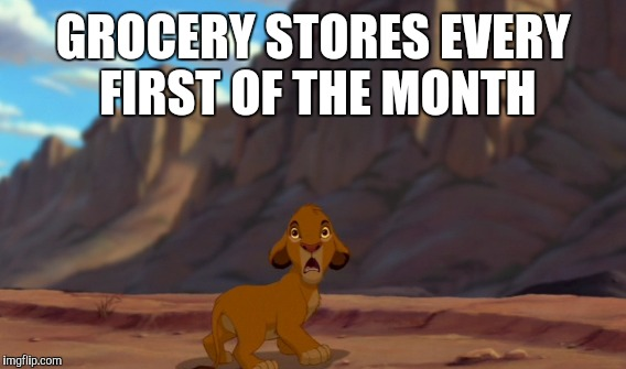 GROCERY STORES EVERY FIRST OF THE MONTH | made w/ Imgflip meme maker