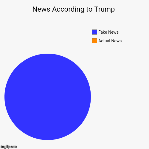 News According to Trump | Actual News, Fake News | image tagged in funny,pie charts | made w/ Imgflip pie chart maker