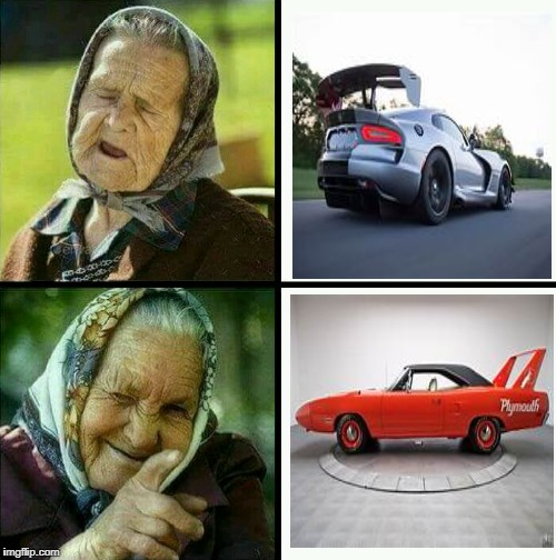 Old lady hate/love | image tagged in car meme,funny | made w/ Imgflip meme maker