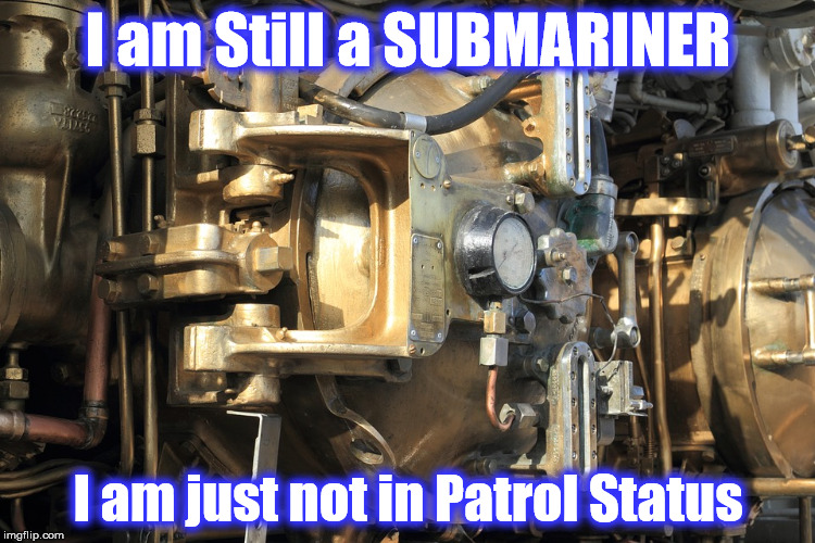 I am Still a SUBMARINER I am just not in Patrol Status | image tagged in sub | made w/ Imgflip meme maker