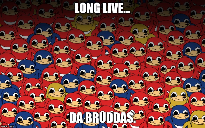 there's officialy no more meme wars since theres no norms or danks anymore | LONG LIVE... DA BRUDDAS. | image tagged in ugandan knuckles,2018,memes | made w/ Imgflip meme maker