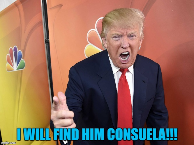 I WILL FIND HIM CONSUELA!!! | made w/ Imgflip meme maker