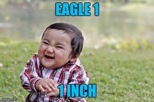 Evil Toddler Meme | EAGLE 1 1 INCH | image tagged in memes,evil toddler | made w/ Imgflip meme maker