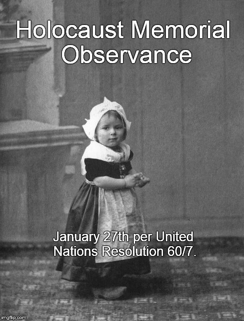 Ariadna at the age of two or three in Amsterdam. | Holocaust Memorial Observance January 27th per United Nations Resolution 60/7. | image tagged in holocaust,holocaust memorial observance,weep,never again,never forget,douglie | made w/ Imgflip meme maker