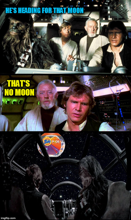 HE'S HEADING FOR THAT MOON THAT'S NO MOON | made w/ Imgflip meme maker
