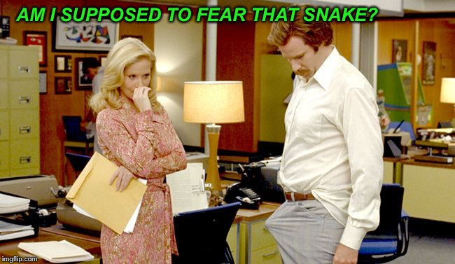 AM I SUPPOSED TO FEAR THAT SNAKE? | made w/ Imgflip meme maker