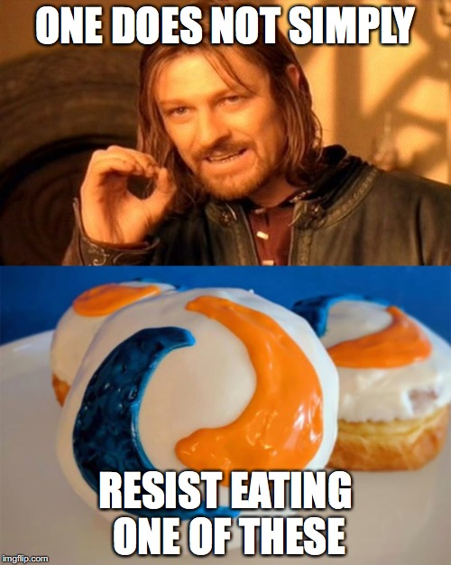 Tide pod donuts! | ONE DOES NOT SIMPLY RESIST EATING ONE OF THESE | image tagged in memes,funny,tide pods,one does not simply | made w/ Imgflip meme maker