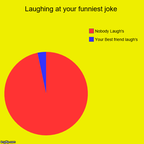 Laughing at your funniest joke | Your Best friend laugh's, Nobody Laugh's | image tagged in funny,pie charts | made w/ Imgflip pie chart maker