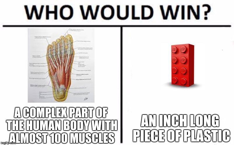 Who Would Win? Meme | A COMPLEX PART OF THE HUMAN BODY WITH ALMOST 100 MUSCLES AN INCH LONG PIECE OF PLASTIC | image tagged in memes,who would win | made w/ Imgflip meme maker
