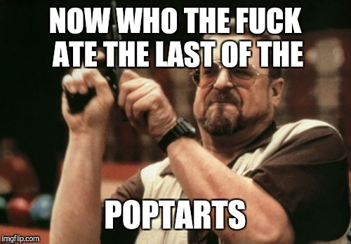 Am I The Only One Around Here Meme | NOW WHO THE F**K ATE THE LAST OF THE POPTARTS | image tagged in memes,am i the only one around here | made w/ Imgflip meme maker