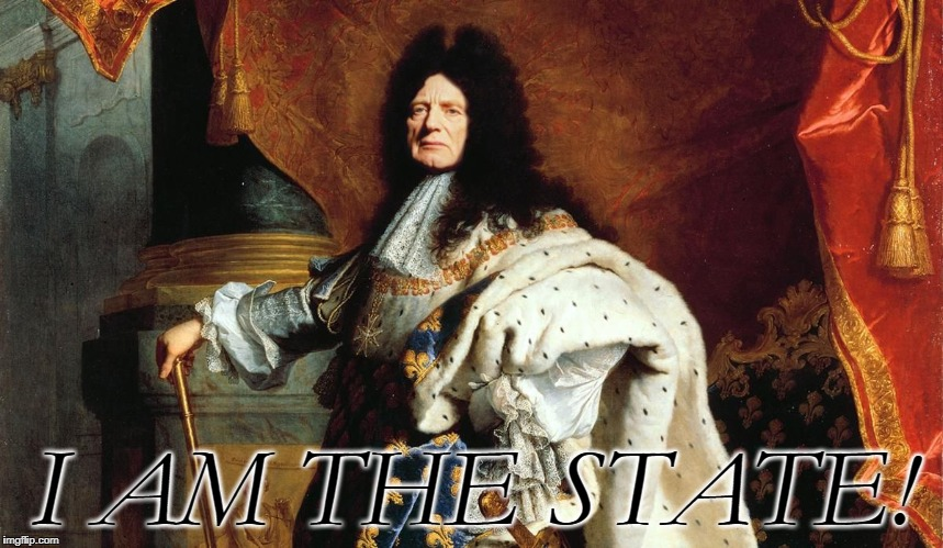 L'etat c'est moi! | I AM THE STATE! | image tagged in the state,memes,funny,palpatine,french,i am the senate | made w/ Imgflip meme maker