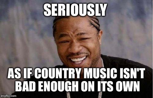 Yo Dawg Heard You Meme | SERIOUSLY AS IF COUNTRY MUSIC ISN'T BAD ENOUGH ON ITS OWN | image tagged in memes,yo dawg heard you | made w/ Imgflip meme maker