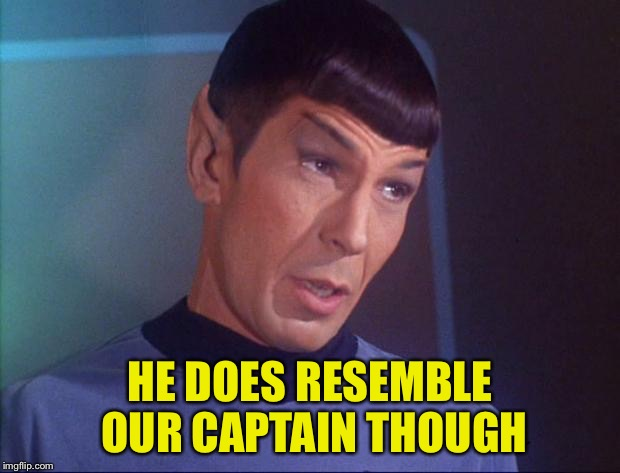 HE DOES RESEMBLE OUR CAPTAIN THOUGH | made w/ Imgflip meme maker