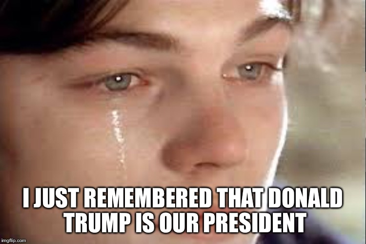 Why | I JUST REMEMBERED THAT DONALD TRUMP IS OUR PRESIDENT | image tagged in donald trump | made w/ Imgflip meme maker