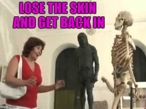 LOSE THE SKIN AND GET BACK IN | made w/ Imgflip meme maker