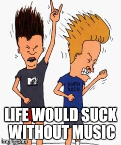 Air guitar | LIFE WOULD SUCK WITHOUT MUSIC | image tagged in air guitar | made w/ Imgflip meme maker
