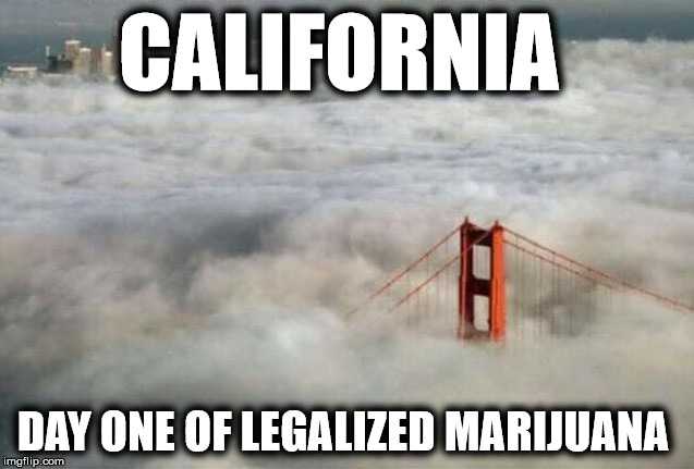 CALIFORNIA DAY ONE OF LEGALIZED MARIJUANA | image tagged in mj | made w/ Imgflip meme maker