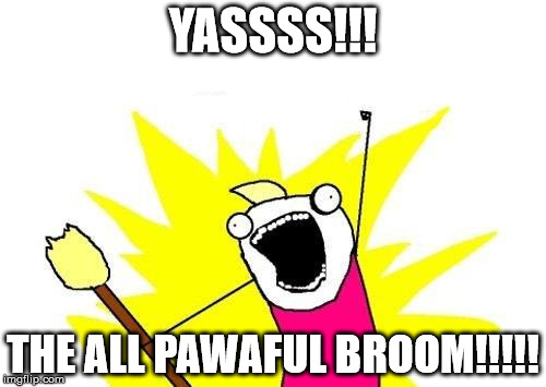 X All The Y Meme | YASSSS!!! THE ALL PAWAFUL BROOM!!!!! | image tagged in memes,x all the y | made w/ Imgflip meme maker