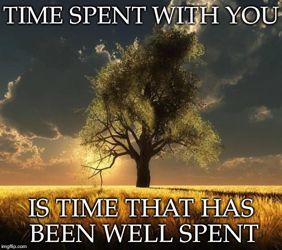 Tree of Life | TIME SPENT WITH YOU IS TIME THAT HAS BEEN WELL SPENT | image tagged in tree of life | made w/ Imgflip meme maker