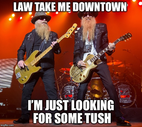 LAW TAKE ME DOWNTOWN I'M JUST LOOKING FOR SOME TUSH | made w/ Imgflip meme maker