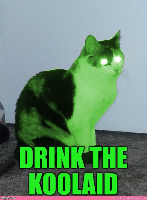 Hypno Raycat | DRINK THE KOOLAID | image tagged in hypno raycat | made w/ Imgflip meme maker