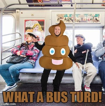 What a Bus Turd! | WHAT A BUS TURD! | image tagged in bus turd,memes | made w/ Imgflip meme maker