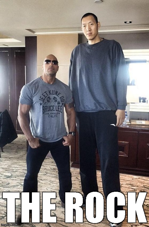 The Rock shows off how big he is | THE ROCK | image tagged in memes,the rock,sun ming ming | made w/ Imgflip meme maker