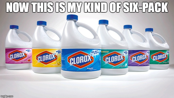 Now this is my kind of 6 pack | NOW THIS IS MY KIND OF SIX-PACK | image tagged in bleach,tide pods,dank meme,dank,tide pod challenge | made w/ Imgflip meme maker
