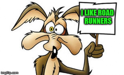 cartoon | I LIKE ROAD RUNNERS | image tagged in cartoon | made w/ Imgflip meme maker