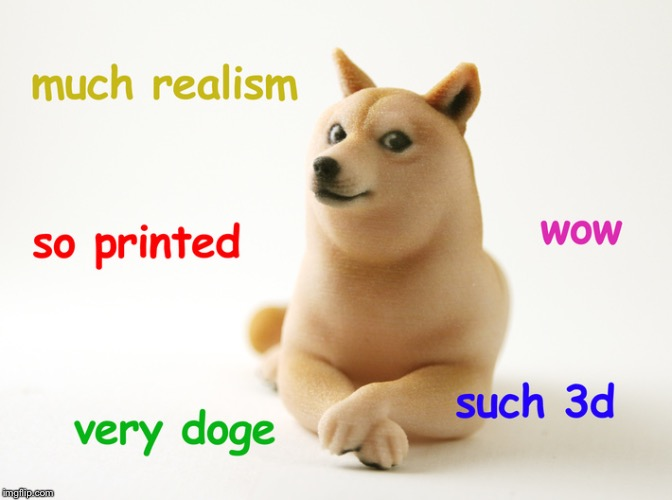 Printed Doge | image tagged in doge,meme | made w/ Imgflip meme maker