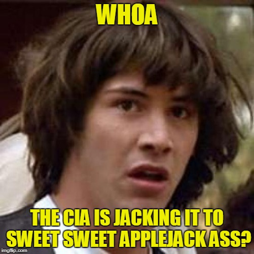 WHOA THE CIA IS JACKING IT TO SWEET SWEET APPLEJACK ASS? | made w/ Imgflip meme maker