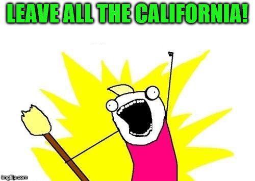 X All The Y Meme | LEAVE ALL THE CALIFORNIA! | image tagged in memes,x all the y | made w/ Imgflip meme maker